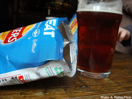 A pint and some crisps